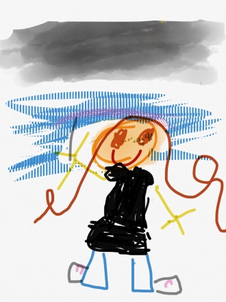 Self-portrait by Frances using Sketches app
