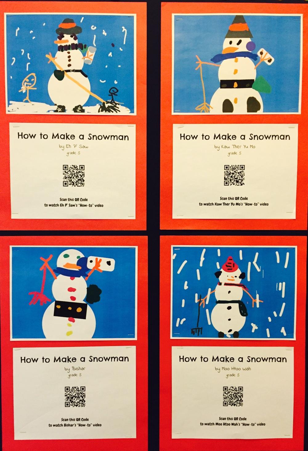 Snowman QRs